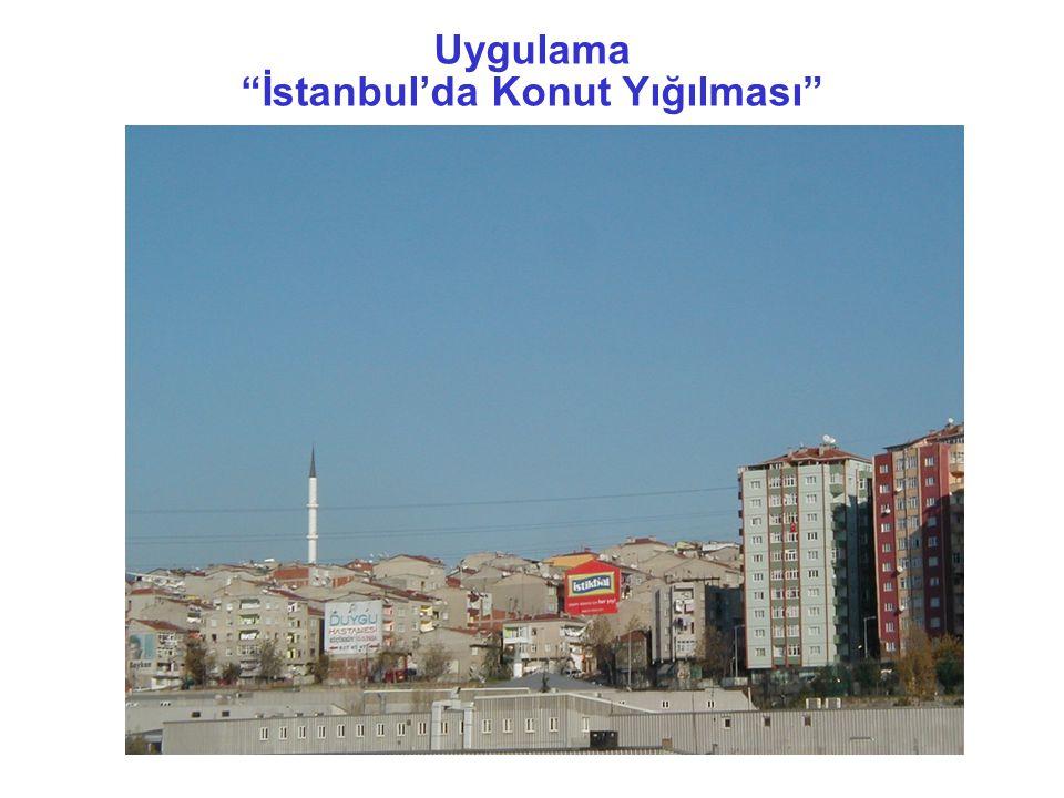Uygulama İstanbul'da Konut Yığılması