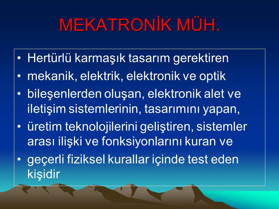 MEKATRONİK MÜH.