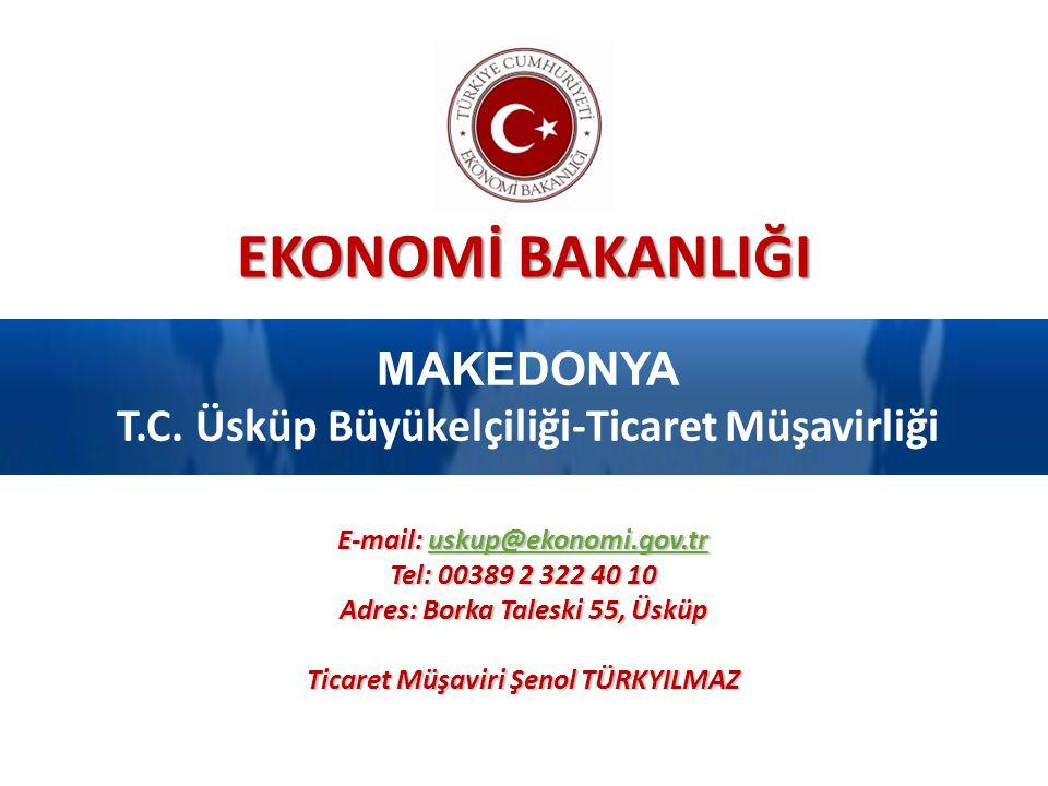 EKONOMİ BAKANLIĞI MAKEDONYA T.C.