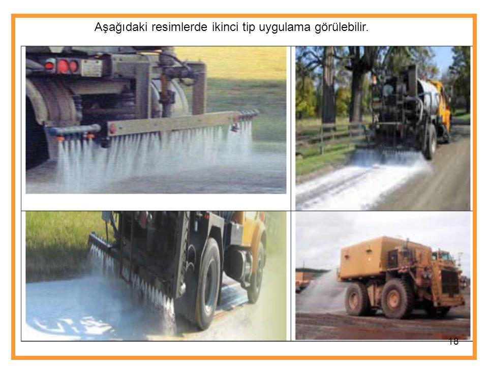 18 Aşağıdaki resimlerde ikinci tip uygulama görülebilir.