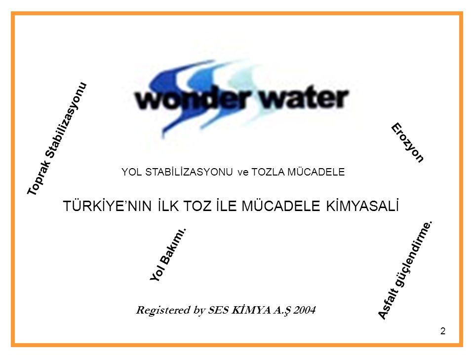 İçerik Toz Nedir? Niçin toz ile mücadele Amaç Yol Dolgusunun Stabilizasyonu Wonder water mucizesi 3