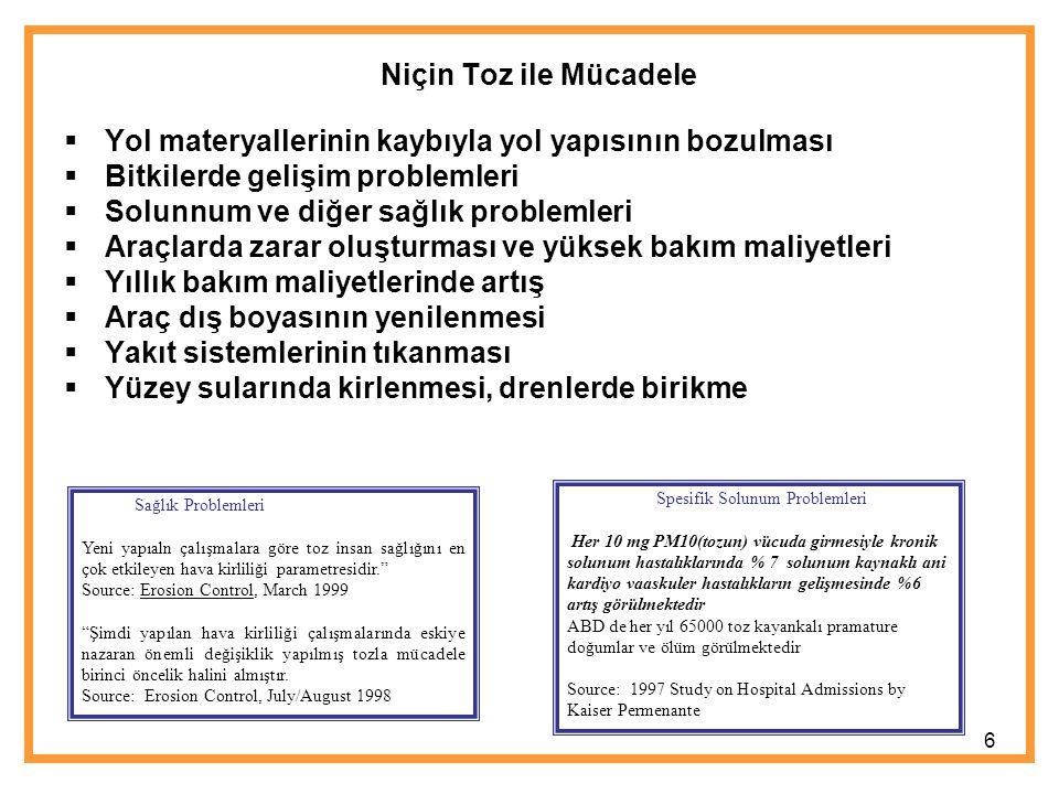 Amaç Bu çalışmanın amacı Türkiye'de ciddi sıkıntılara sebep olan rüzgar erozyonu ve tozla mücadelede yapılması gerekenleri açıklamak ve bu doğrultudaki gelişmeleri incelemektir.