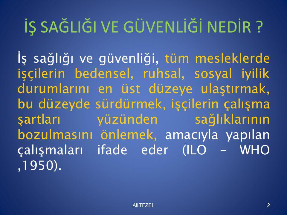 İDARİ PARA CEZALARI • Yükümlülükleregöre işyerinin bir bölümünde veya tamamında verilen durdurma kararına uymayarak durdurulan işi yönetmelikte belirtilen şartları yerine getirmeden devam ettiren işverene fiil başka bir suç oluştursa dahi 10.000 Türk Lirası, bu sürede işçilerin ücretini ödemeyen işverene ihlale uğrayan her bir çalışan için 1.000 Türk Lirası, aykırılığın devam ettiği her ay için aynı miktar (Ceza – Fiil Maddesi 26/l -25), • Büyük kaza önleme politika belgesi hazırlamayan işverene 50.000 Türk Lirası, güvenlik raporunu hazırlayıp Bakanlığın değerlendirmesine sunmadan işyerini faaliyete geçiren, işletilmesine Bakanlıkça izin verilmeyen işyerini açan veya durdurulan işyerinde faaliyete devam eden işverene 80.000 Türk Lirası (Ceza – Fiil Maddesi 26/m -29), Ali Tezel 73