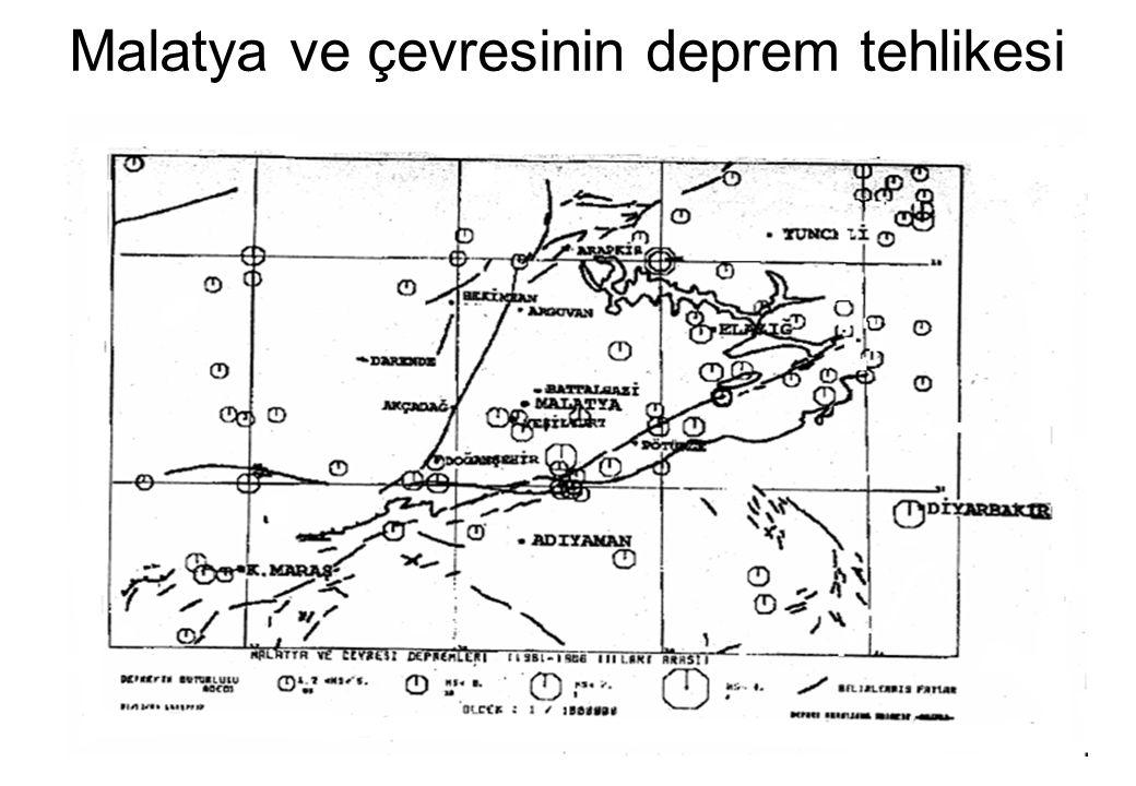 Malatya ve çevresinin deprem tehlikesi