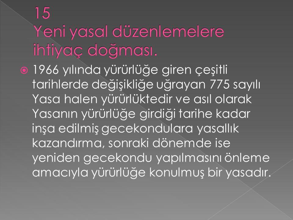  1966 yılında yürürlüğe giren çeşitli tarihlerde değişikliğe uğrayan 775 sayılı Yasa halen yürürlüktedir ve asıl olarak Yasanın yürürlüğe girdiği tar