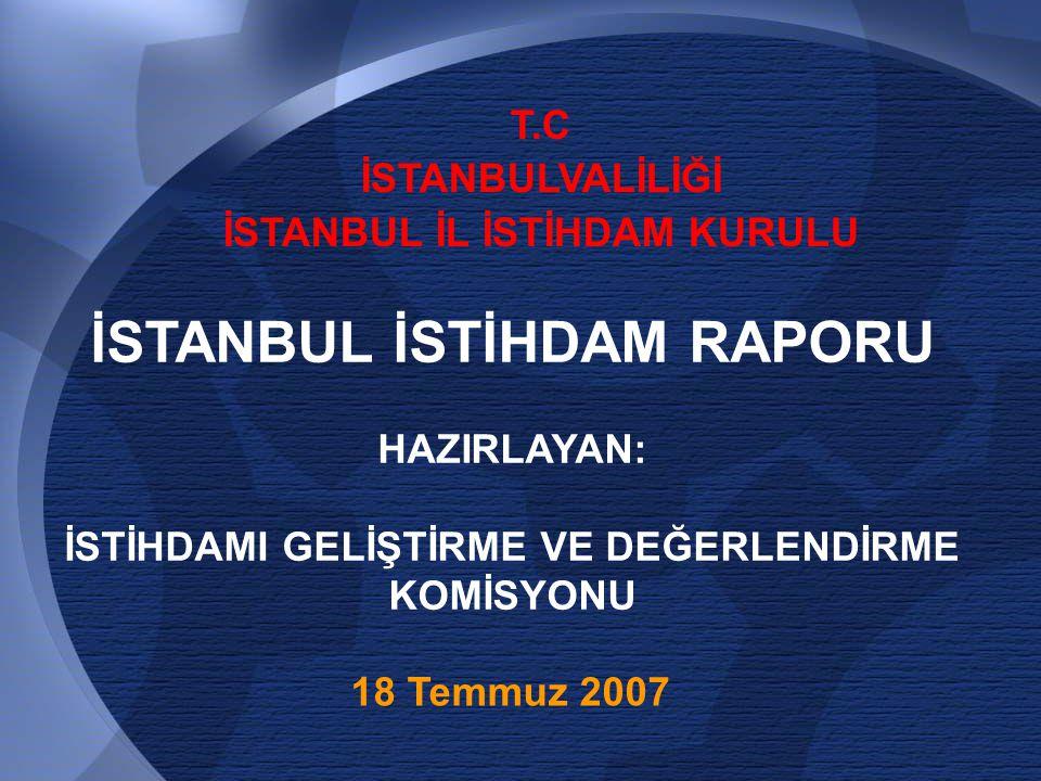 22 Durum Analizi İstanbul'da İstihdam ve İşsizlik Kaynak.