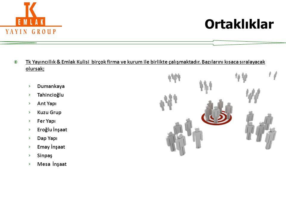 Tk Yayıncıllık & Emlak Kulisi birçok firma ve kurum ile birlikte çalışmaktadır.