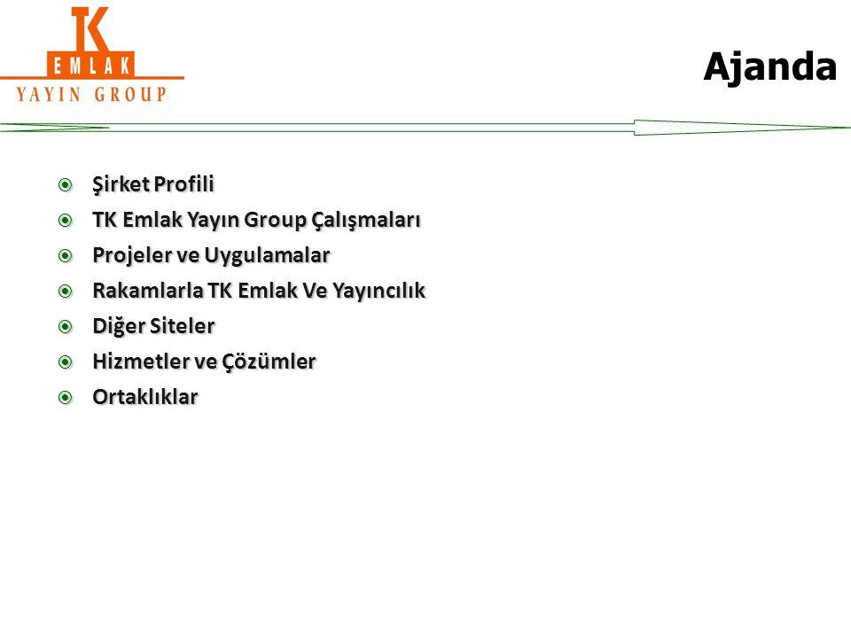 Şirket Profili  TK Emlak Yayın Group emlak alanında, ilkleri yapmayı önemseyen Türkiye'nin ilk emlak haber sitesi, ilk emlak bloggerlığı, günlük ilk emlak programı, ilk emlak yatırımı kitapları gibi ilklere imza atan ve sektörün duayen ismi ''Tebernüş Kireççi'' tarafından 2007 yılında yayın hayatına girmiştir.