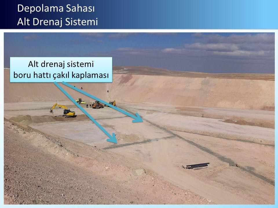 Depolama Sahası Alt Drenaj Sistemi Alt drenaj sistemi boru hattı çakıl kaplaması Alt drenaj sistemi boru hattı çakıl kaplaması