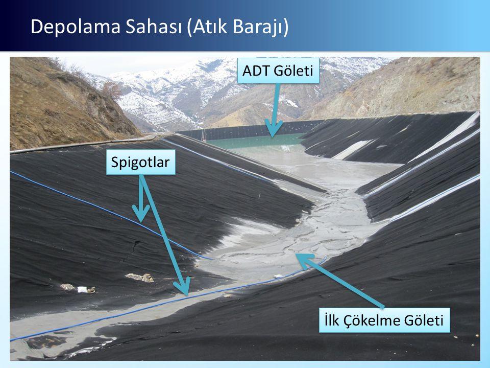 Depolama Sahası (Atık Barajı) Spigotlar ADT Göleti İlk Çökelme Göleti