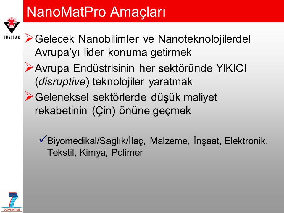 NanoMatPro Bölümleri 1.Nanobilimler ve Nanoteknolojiler 2.