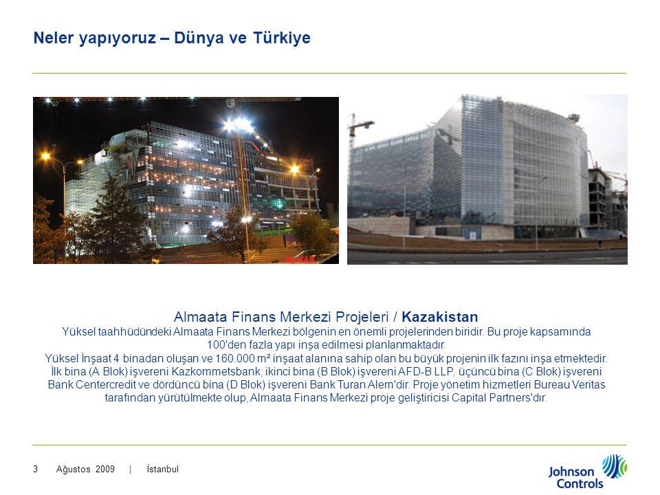Ağustos 2009 | İstanbul3 Neler yapıyoruz – Dünya ve Türkiye Almaata Finans Merkezi Projeleri / Kazakistan Yüksel taahhüdündeki Almaata Finans Merkezi