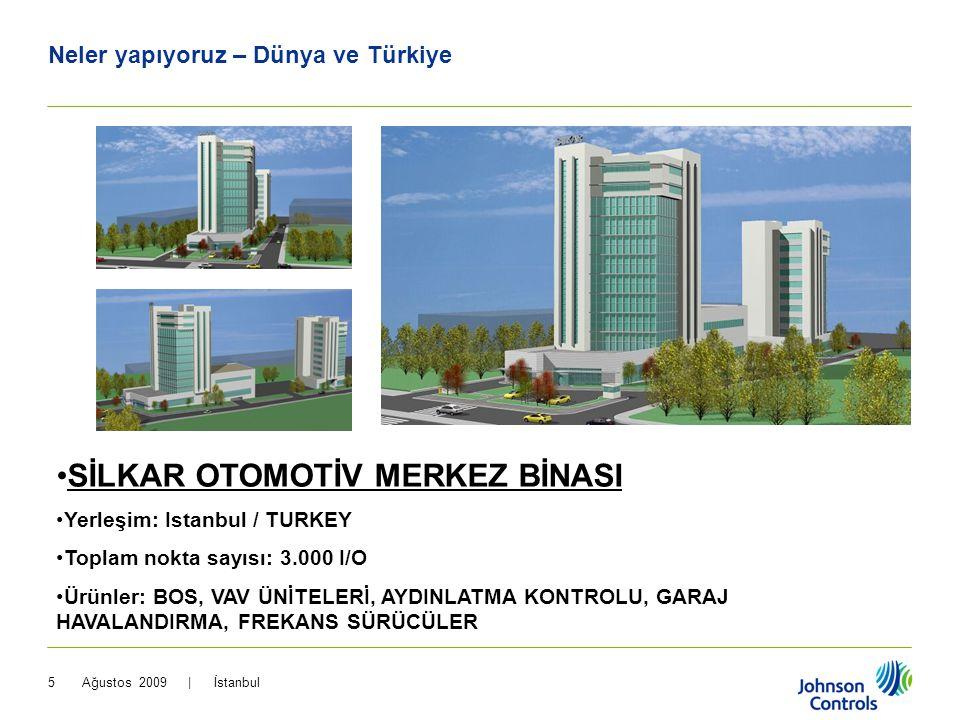 Ağustos 2009 | İstanbul5 Neler yapıyoruz – Dünya ve Türkiye •SİLKAR OTOMOTİV MERKEZ BİNASI •Yerleşim: Istanbul / TURKEY •Toplam nokta sayısı: 3.000 I/