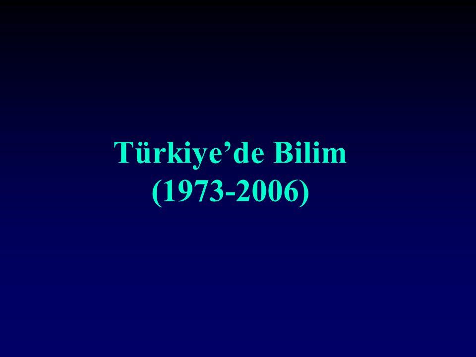 Türkiye'de Bilim (1973-2006)