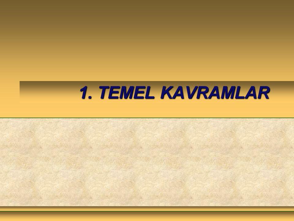 1. TEMEL KAVRAMLAR