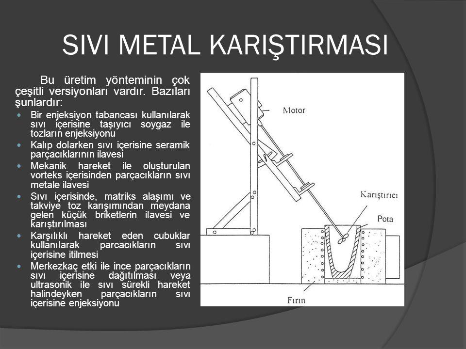 SIVI METAL KARIŞTIRMASI Bu üretim yönteminin çok çeşitli versiyonları vardır.