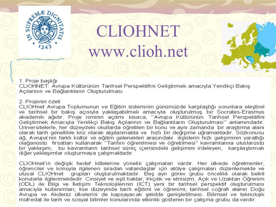 elifhatunkilicbeyli.06/2007 CLIOHNET www.clioh.net