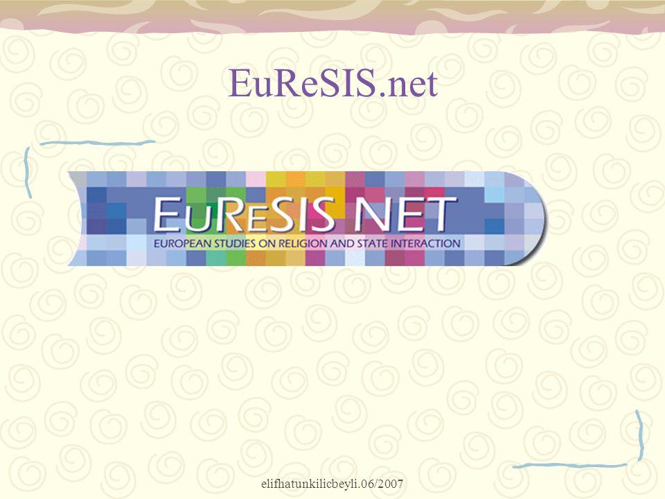 elifhatunkilicbeyli.06/2007 EuReSIS.net