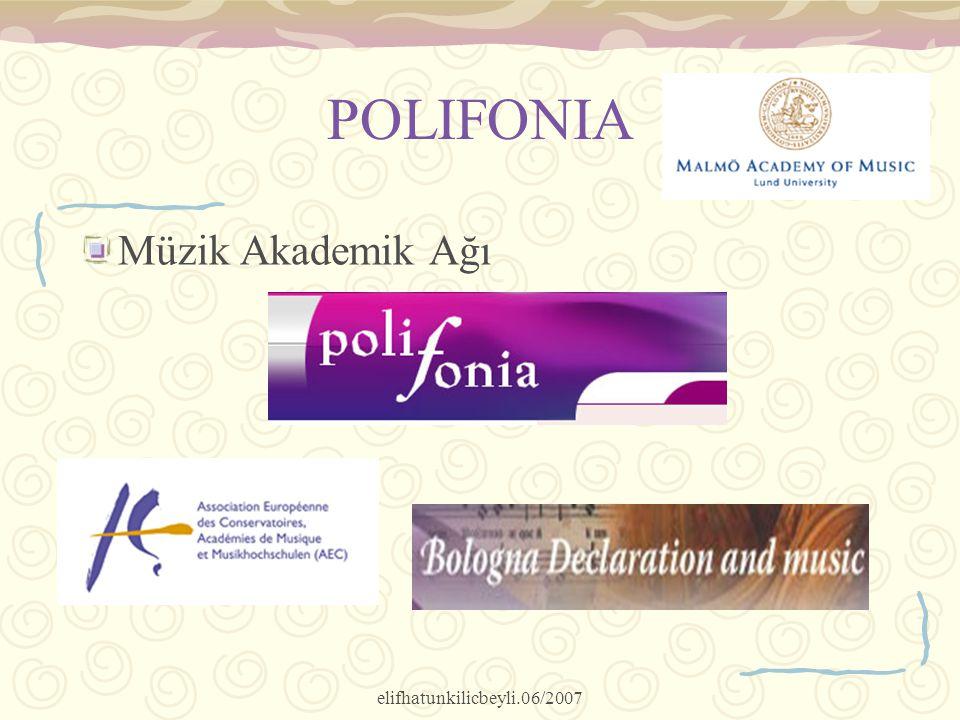elifhatunkilicbeyli.06/2007 POLIFONIA Müzik Akademik Ağı