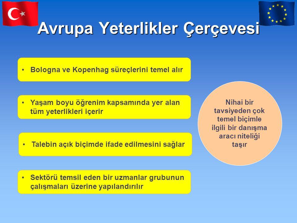 Türkiye'de Ulusal Yeterlik Sistemi •AYÇ Türkiye Raporu 22.12.2006 tarihinde sunularak Türkiye'nin AYÇ katılımı resmen ilan edilmiştir.
