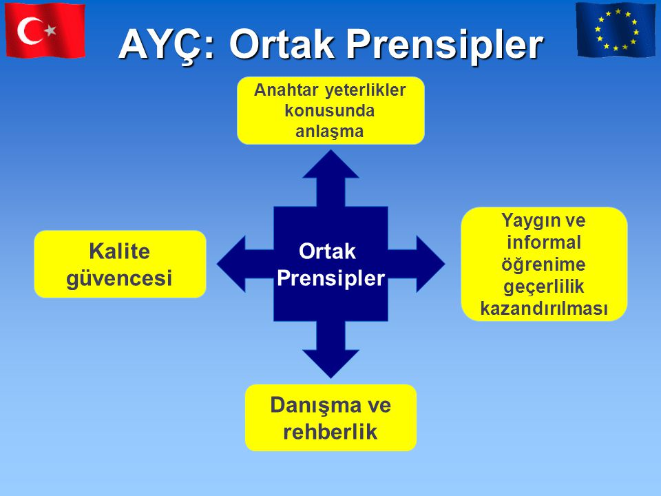 Türkiye'de Ulusal Yeterlik Sistemi ve AB Desteği •Fonksiyonel bir Ulusal Yeterlik Sistemi (UYS) için, 2007 Bütçesi kapsamında Türkiye'de Ulusal yeterlik Sistemi programı adı altında destek verilmiştir.