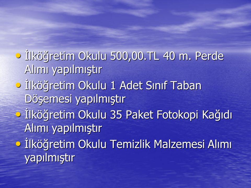 • İlköğretim Okulu 500,00.TL 40 m.