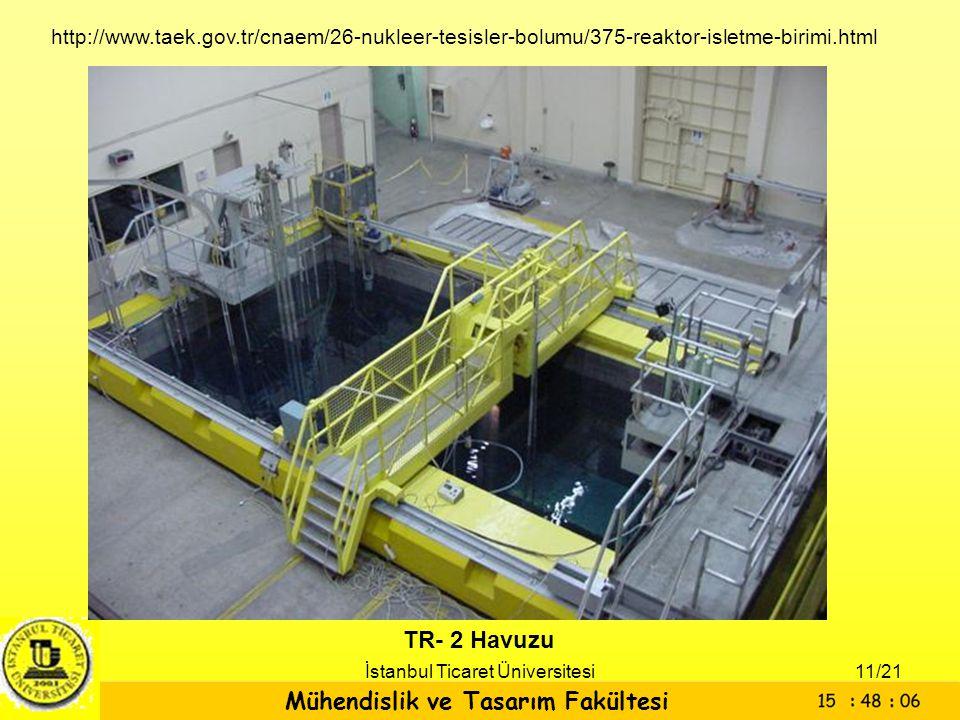 Mühendislik ve Tasarım Fakültesi İstanbul Ticaret Üniversitesi TR- 2 Havuzu http://www.taek.gov.tr/cnaem/26-nukleer-tesisler-bolumu/375-reaktor-isletm