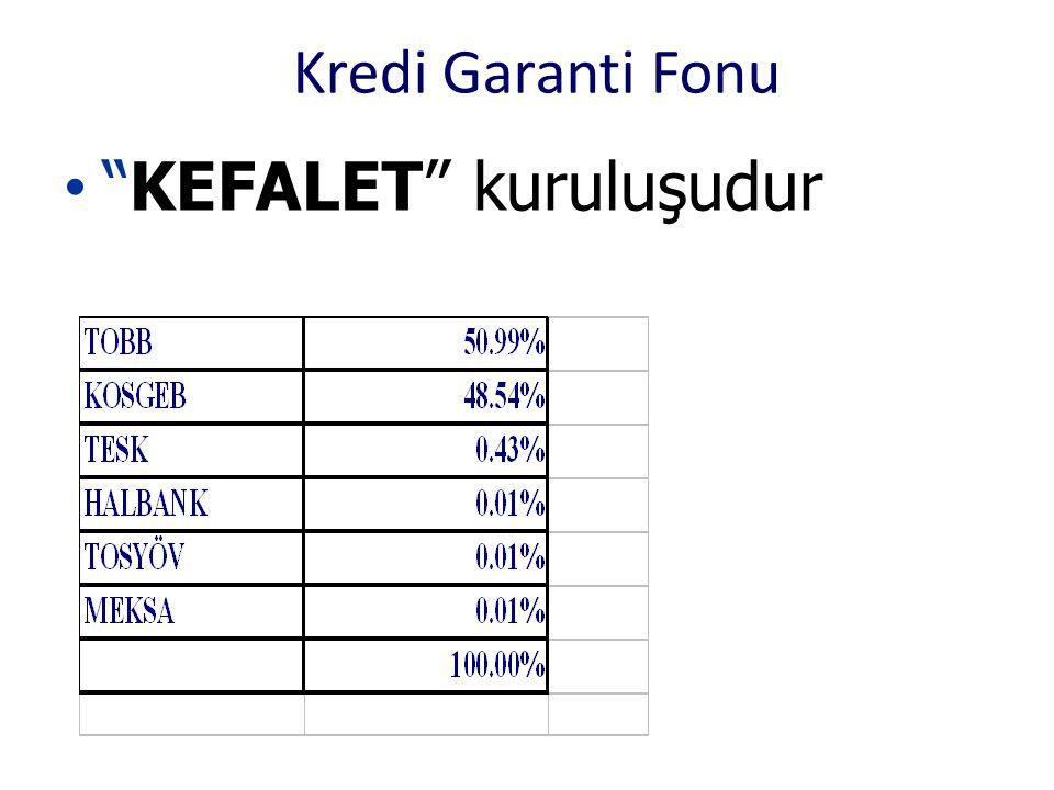 """Kredi Garanti Fonu • """"KEFALET"""" kuruluşudur"""