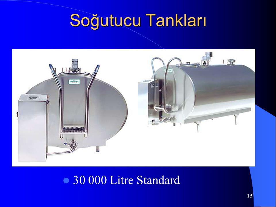 15 Soğutucu Tankları  30 000 Litre Standard
