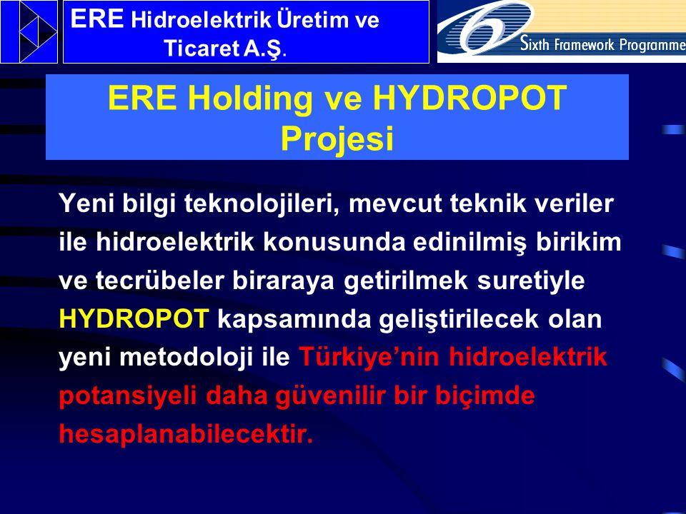 Yeni bilgi teknolojileri, mevcut teknik veriler ile hidroelektrik konusunda edinilmiş birikim ve tecrübeler biraraya getirilmek suretiyle HYDROPOT kapsamında geliştirilecek olan yeni metodoloji ile Türkiye'nin hidroelektrik potansiyeli daha güvenilir bir biçimde hesaplanabilecektir.