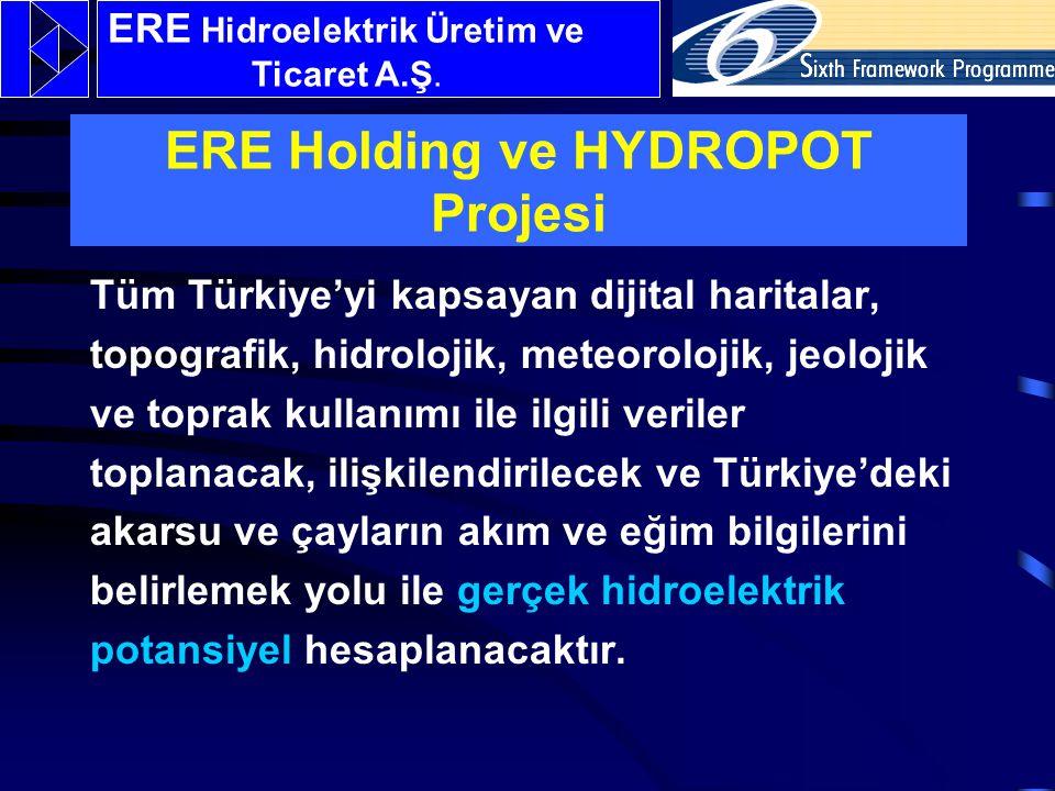 Tüm Türkiye'yi kapsayan dijital haritalar, topografik, hidrolojik, meteorolojik, jeolojik ve toprak kullanımı ile ilgili veriler toplanacak, ilişkilendirilecek ve Türkiye'deki akarsu ve çayların akım ve eğim bilgilerini belirlemek yolu ile gerçek hidroelektrik potansiyel hesaplanacaktır.