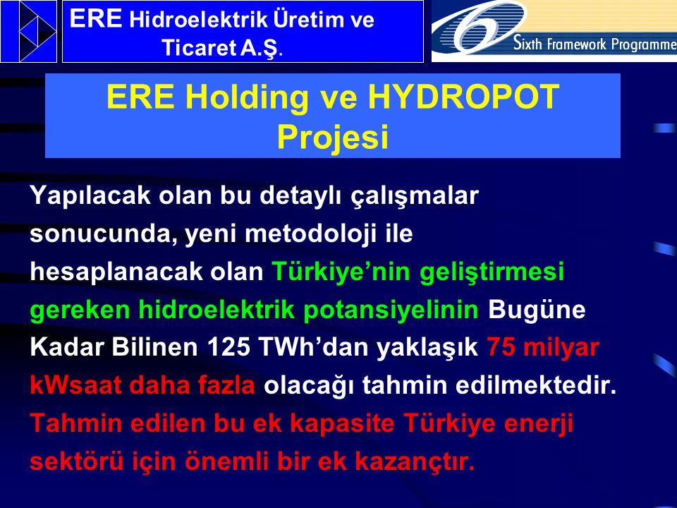 Yapılacak olan bu detaylı çalışmalar sonucunda, yeni metodoloji ile hesaplanacak olan Türkiye'nin geliştirmesi gereken hidroelektrik potansiyelinin Bugüne Kadar Bilinen 125 TWh'dan yaklaşık 75 milyar kWsaat daha fazla olacağı tahmin edilmektedir.