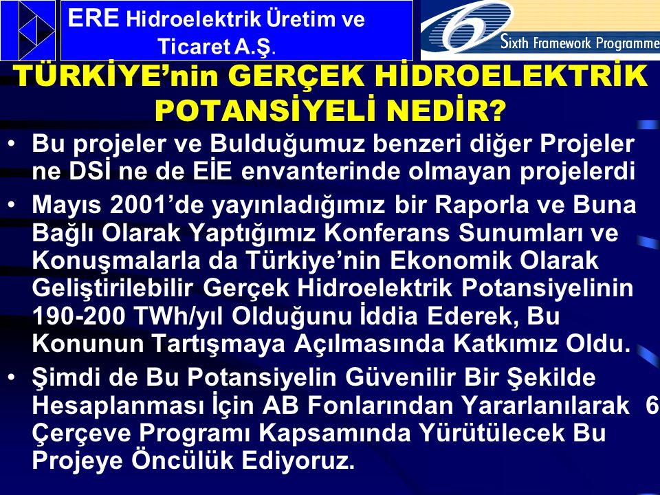 HYDROPOT'un özel amaci: Türkiye'nin en önemli yerli enerji kaynağı olan hidroelektrik potansiyelinin güvenilir bir yöntemle ve doğru olarak hesaplanabilmesi için geniş kapsamlı yeni bir metodoloji geliştirmek ve bunu tüm Türkiye'ye uygulayarak ekonomik olarak geliştirilebilir hidroelektrik potansiyelini hesaplamak ve kullanıma geçirilmesini sağlamaktır.