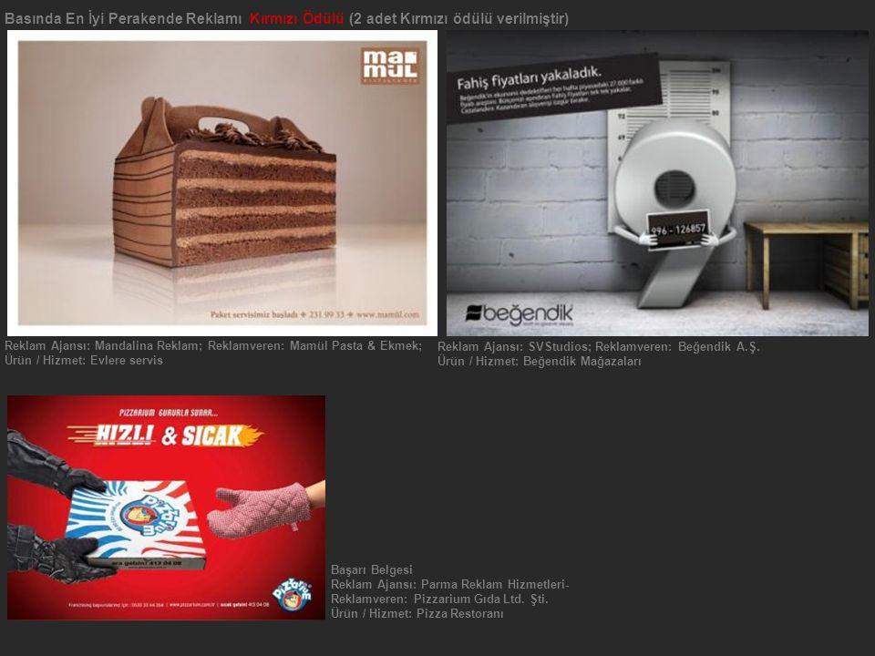 Reklam Ajansı: SVStudios; Reklamveren: Beğendik A.Ş.