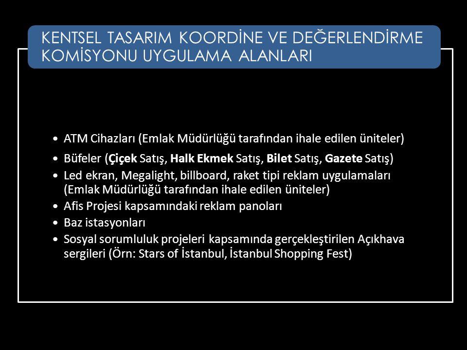 •ATM Cihazları (Emlak Müdürlüğü tarafından ihale edilen üniteler) •Büfeler (Çiçek Satış, Halk Ekmek Satış, Bilet Satış, Gazete Satış) •Led ekran, Mega