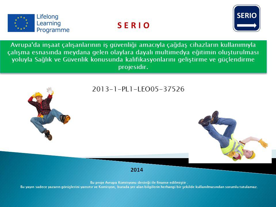 Avrupa'da inşaat çalışanlarının iş güvenliği amacıyla çağdaş cihazların kullanımıyla çalışma esnasında meydana gelen olaylara dayalı multimedya eğitim