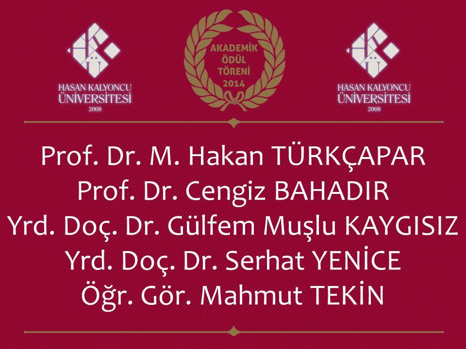 Prof. Dr. M. Hakan TÜRKÇAPAR Prof. Dr. Cengiz BAHADIR Yrd. Doç. Dr. Gülfem Muşlu KAYGISIZ Yrd. Doç. Dr. Serhat YENİCE Öğr. Gör. Mahmut TEKİN