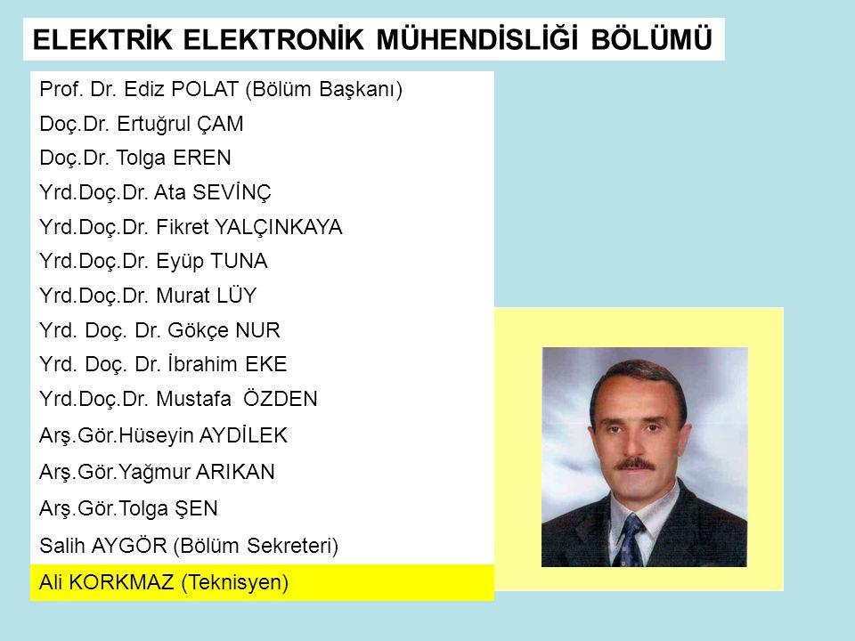 Prof.Dr. Ediz POLAT (Bölüm Başkanı) Doç.Dr. Ertuğrul ÇAM Doç.Dr.