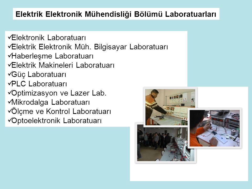  Elektronik Laboratuarı  Elektrik Elektronik Müh.