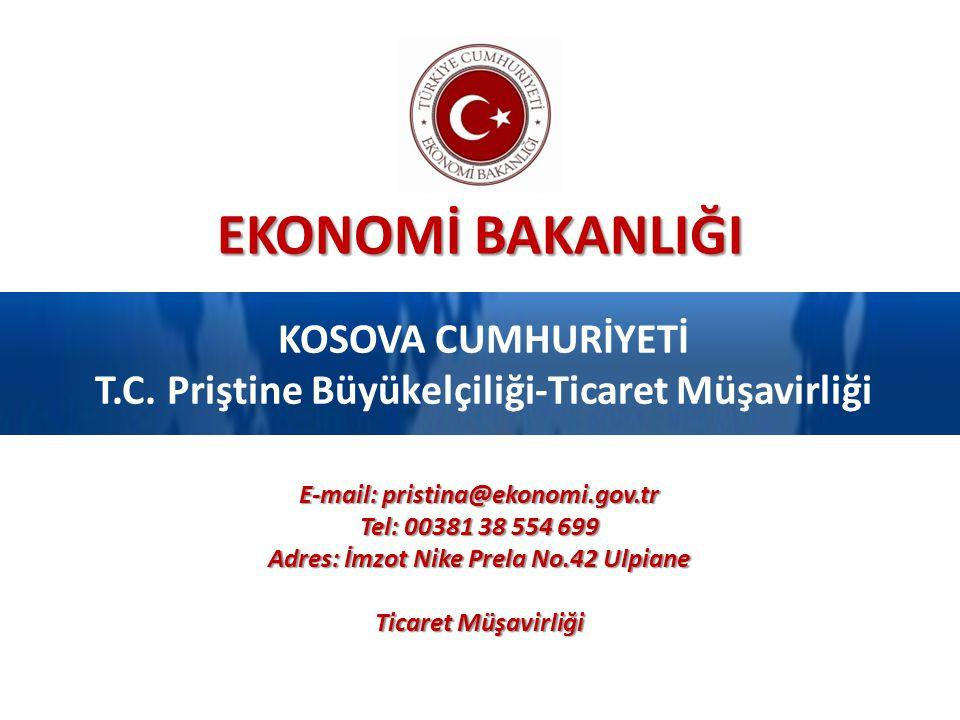 Genel Bilgiler Ekonomi Bakanlığı 2 Kaynak: Kosova Yatırım Ajansı