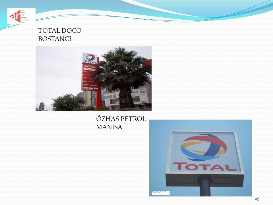 25 TOTAL DOCO BOSTANCI ÖZHAS PETROL MANİSA