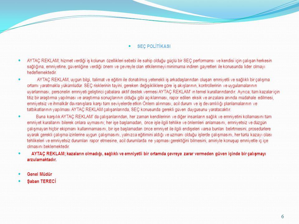 AYTAÇ REKLAM SEÇ ÇALIŞMA KURALLARI Aytaç Reklam Ltd.