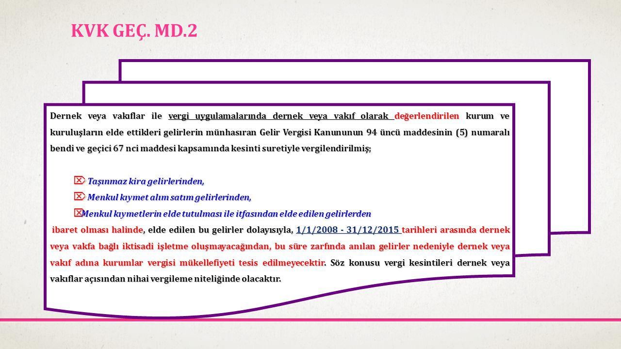 İNDİRİMLER 1- Ar-Ge harcamaları 2- Sponsorluk harcamaları 3- Belirli kişi, kurum ve kuruluşlara yapılan bağış ve yardımlar 4-Girişim sermayesi fonu olarak ayrılan tutarlar (15.6.2012) 5- Türkiye'den yurtdışı mukimi kişi ve kurumlara verilen hizmetlerden elde edilen kazancın yarısı (15.6.2012) 5520 sayılı KVK'nın 10/1-a maddesi ile araştırma ve geliştirme harcaması yapan kurumların bu alandaki çabalarının desteklenmesi için araştırma ve geliştirmeye yönelik harcamaların % 100 'ü beyan edilen gelirden indirilecektir..