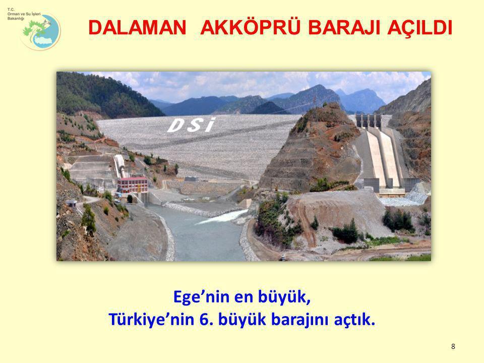 8 Ege'nin en büyük, Türkiye'nin 6. büyük barajını açtık. DALAMAN AKKÖPRÜ BARAJI AÇILDI
