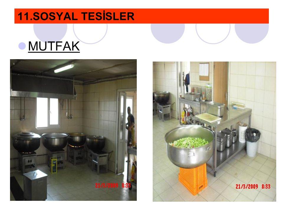 11.SOSYAL TESİSLER  MUTFAK