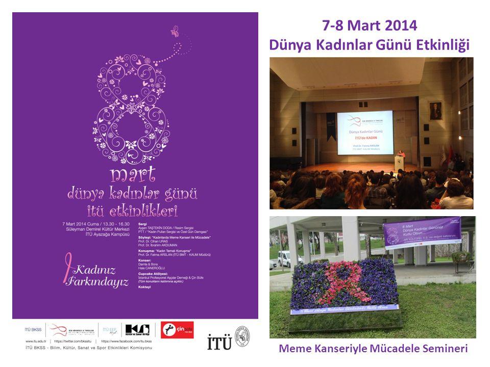 7-8 Mart 2014 Dünya Kadınlar Günü Etkinliği Meme Kanseriyle Mücadele Semineri