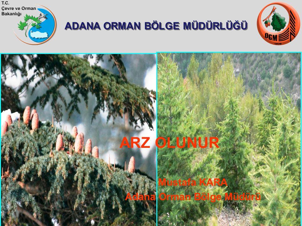 ADANA ORMAN BÖLGE MÜDÜRLÜĞÜ ARZ OLUNUR Mustafa KARA Adana Orman Bölge Müdürü