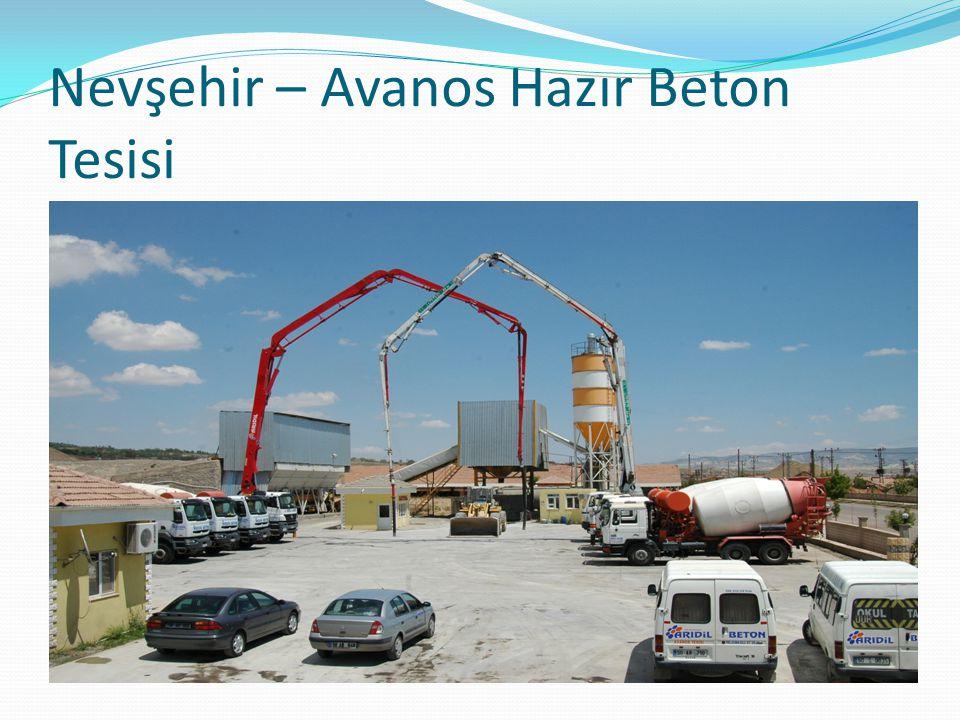 Nevşehir – Avanos Hazır Beton Tesisi
