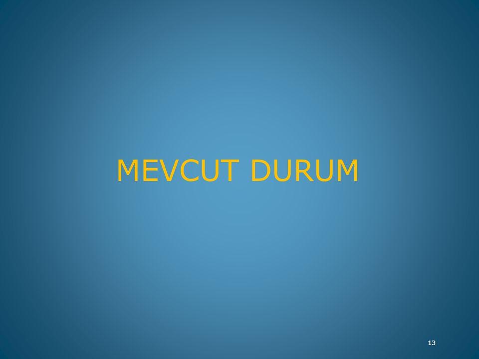 MEVCUT DURUM 13