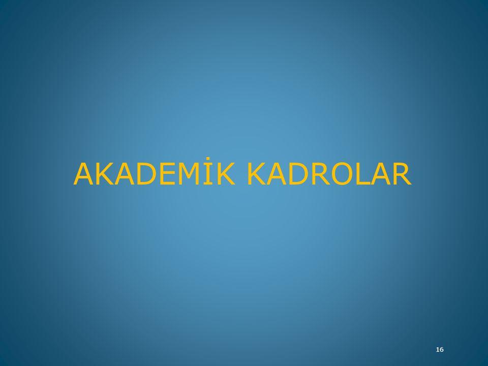 AKADEMİK KADROLAR 16